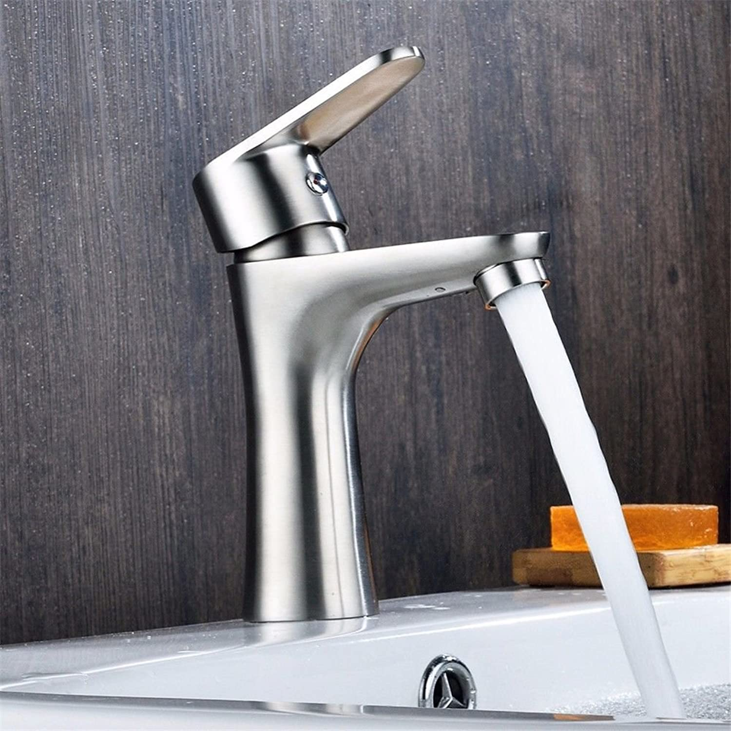 Hlluya Professional Sink Mixer Tap Kitchen Faucet Stainless steel hot and cold water basin mixer basin mixer faucet water faucet Single-tap Power Tap-to-Tap,A,1