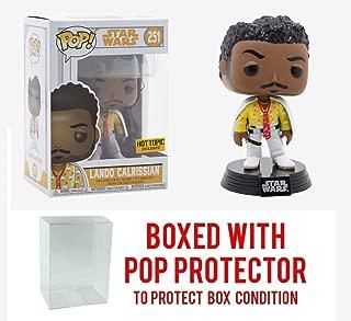 Funko Pop! Star Wars - Solo - Lando Calrissian Hot Topic Exclusive Collectible Vinyl Figure (Bundled with Pop Box Protector CASE)