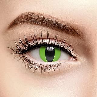 Chromaview Lentillas de Color Verde Ojo de Serpiente de 30 Días - Sin Graduación