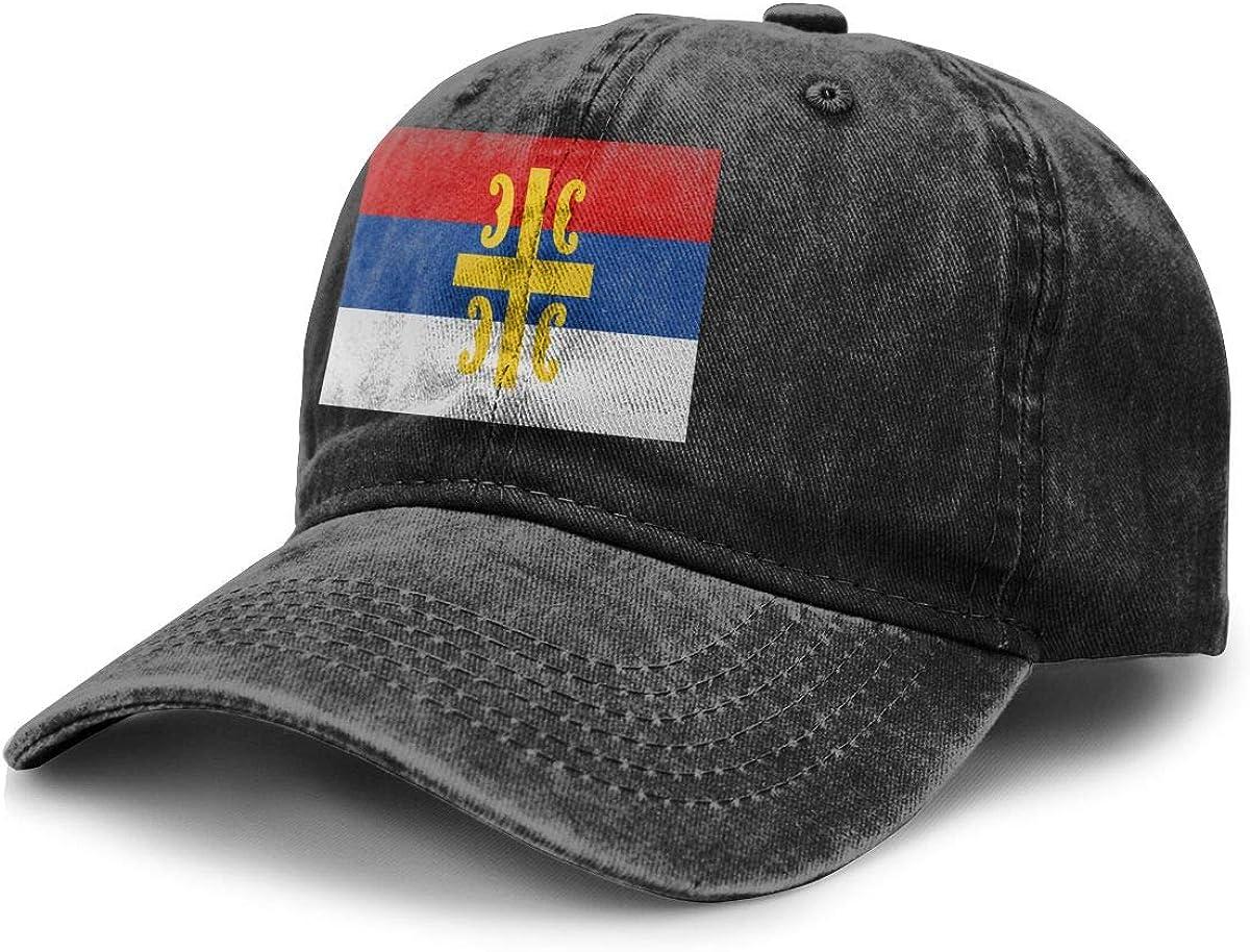 Source Point Flag of The Serbian Cross Unisex Adult Baseball Hat Cowboy Cap Snapback