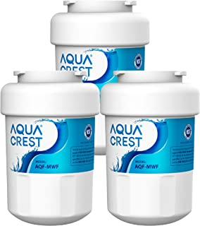 AQUACREST MWF Refrigerator Water Filter, Compatible with GE SmartWater MWFP, MWFA, GWF, HDX FMG-1, WFC1201, GSE25GSHECSS, PC75009, Pack of 3