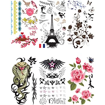 Supperb 6 Sheets Sexy Body Art Temporary Tattoo Sticker