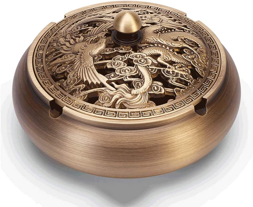 ZHICHUAN Ashtray Windproof with Denver Mall Brass Lid service for Cigarettes