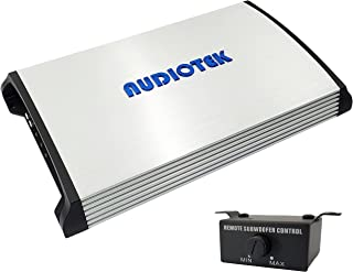 $112 » Audiotek AT5000S 2 Channel Stereo Car Amplifier - 5000 Watts, 2 Ohm Stable, LED Indicator, Full Range, Bass Knob Included,...