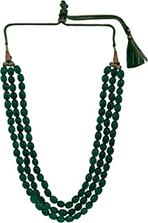 Indian Multi Layered Bollywood Green Faux Emerald Beads Wedding Bridal Necklace Jewelry Women