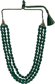 Efulgenz Indian Multi Layered Bollywood Green Faux Emerald Beads Wedding Bridal Necklace Jewelry Women