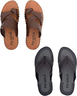 ASIAN 4817 Brown & 4715 Thong Sandals,Slippers for Men