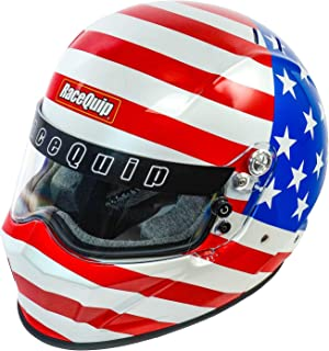 RaceQuip 283125 VESTA15 Full Face Helmet SA-2015 American Flag Graphic Large
