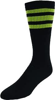 CTM Striped Top Ribbed Tube Socks (4 Pair Pack)