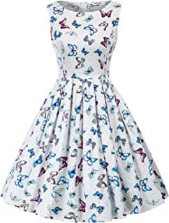 Women's Vintage Cocktail Party A-line Swing Dress