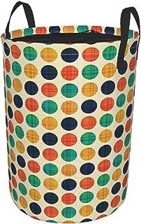 ZOMOY Grand Organiser Paniers pour Vêtements Stockage,Polka Dots in Nostalgic Funky Vibrant Colors Points décimaux Flecks ...