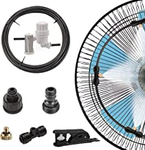 Fan Misting DIY Kit with Filter for Cool Patio Breeze 23FT (7M) Misting Tube, 5 Brass Nozzle, Galvanized Solid Brass Adapter, Connects to Any Outdoor Fan Misters for Cooling Outdoor Heating Down, Include Stainless Steel Fifter Quick Connector