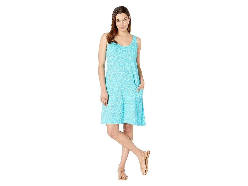 Fresh Produce Seashore Drape Dress (Luna Turquoise) Women