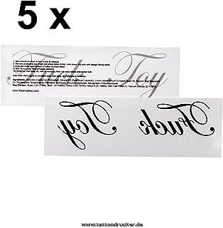 5 x - Fuck Toy - Schriftzug als Tattoo in schwarz - Fetish S
