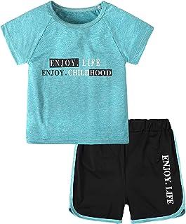 مجموعة شورت للبنات قطعتين تي شيرت + شورت صيفي ملابس رياضية للركض