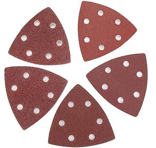 Granos de arena, 100 unids 80 mm papel de lija triangular +