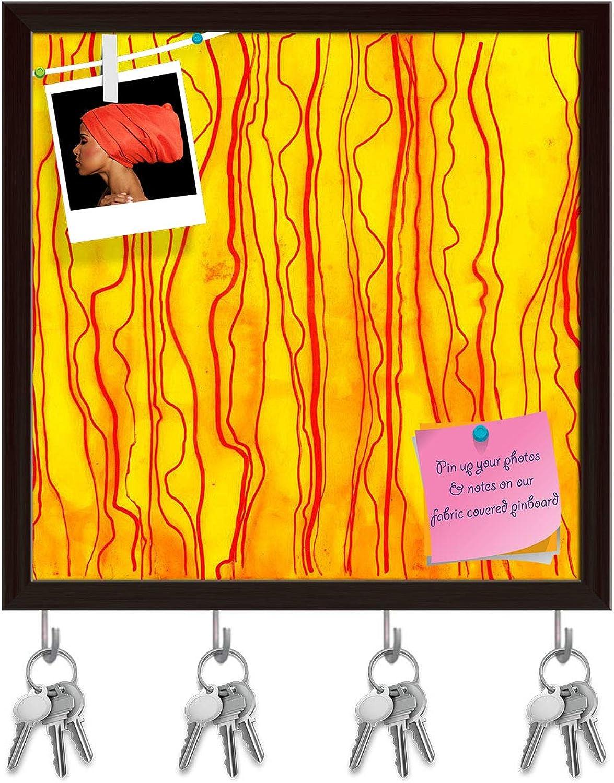 Artzfolio Artwork D22 Key Holder Hooks   Notice Pin Board   Dark Brown Frame 20 X 20Inch