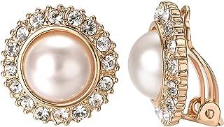 Yoursfs Tournesol Strass Boucles doreilles Clip Femme Plaqu/é or Chic Fleur Cristal Boucles doreilles de mariage