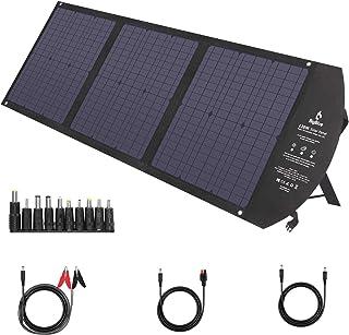 BigBlue ソーラーパネル 120Wソーラーチャージャー ソーラー充電器 折りたたみ 高効率ソーラーパネル 薄型 超軽量 QC3.0/ Type-C/MPPT /10種類変換プラグ搭載/Smart-IC/回路搭載保護/防水 太陽光 蓄電池 ...
