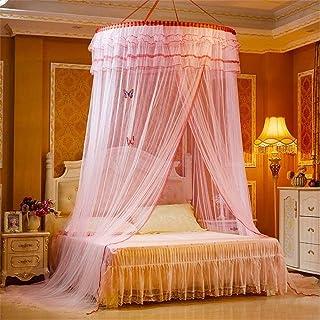 女の子の寝室のためのキャンプスクリーンハウスキャノピー、ベッドのためのドーム蚊帳、ダブルとシングルベッドのためのポリエステルメーターの簡単なインストールベッドキャノピー、ベビーベッド、プリンセス蚊帳、黄色