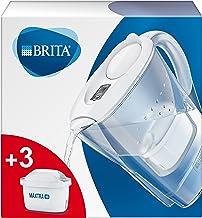 BRITA waterfilterkan Marella verbetert de smaak en vermindert kalk en andere onzuiverheden uit kraanwater, wit, 2,4L - inc...
