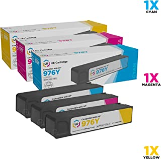 LD Remanufactured Ink Cartridge Replacement for HP 976Y Extra High Yield (Cyan, Magenta, Yellow, 3-Pack)