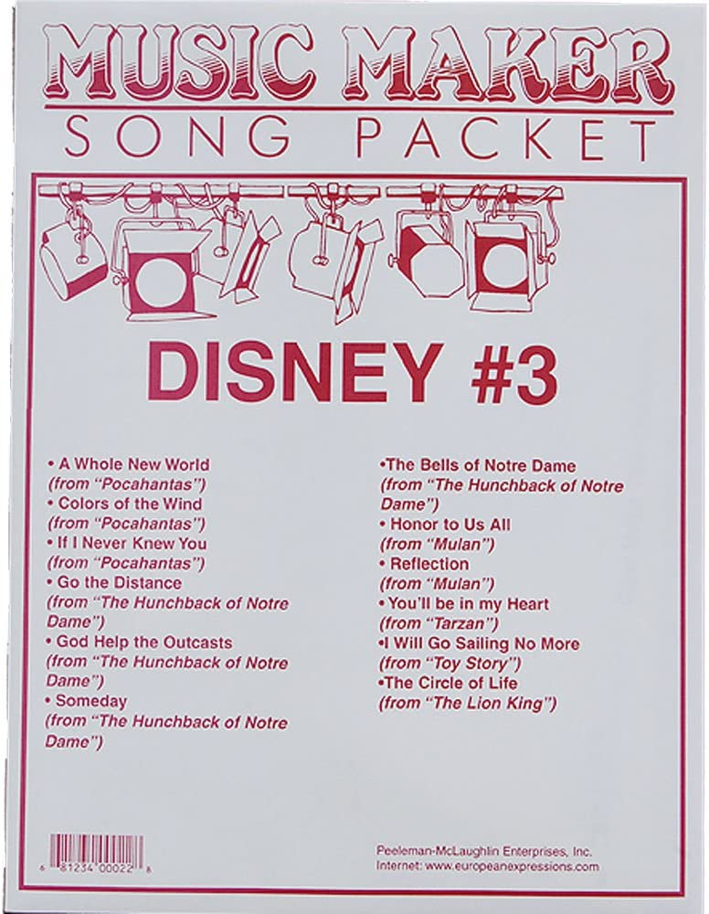 Max 77% OFF Disney #3 songsheet packet the for Wholesale Music Maker