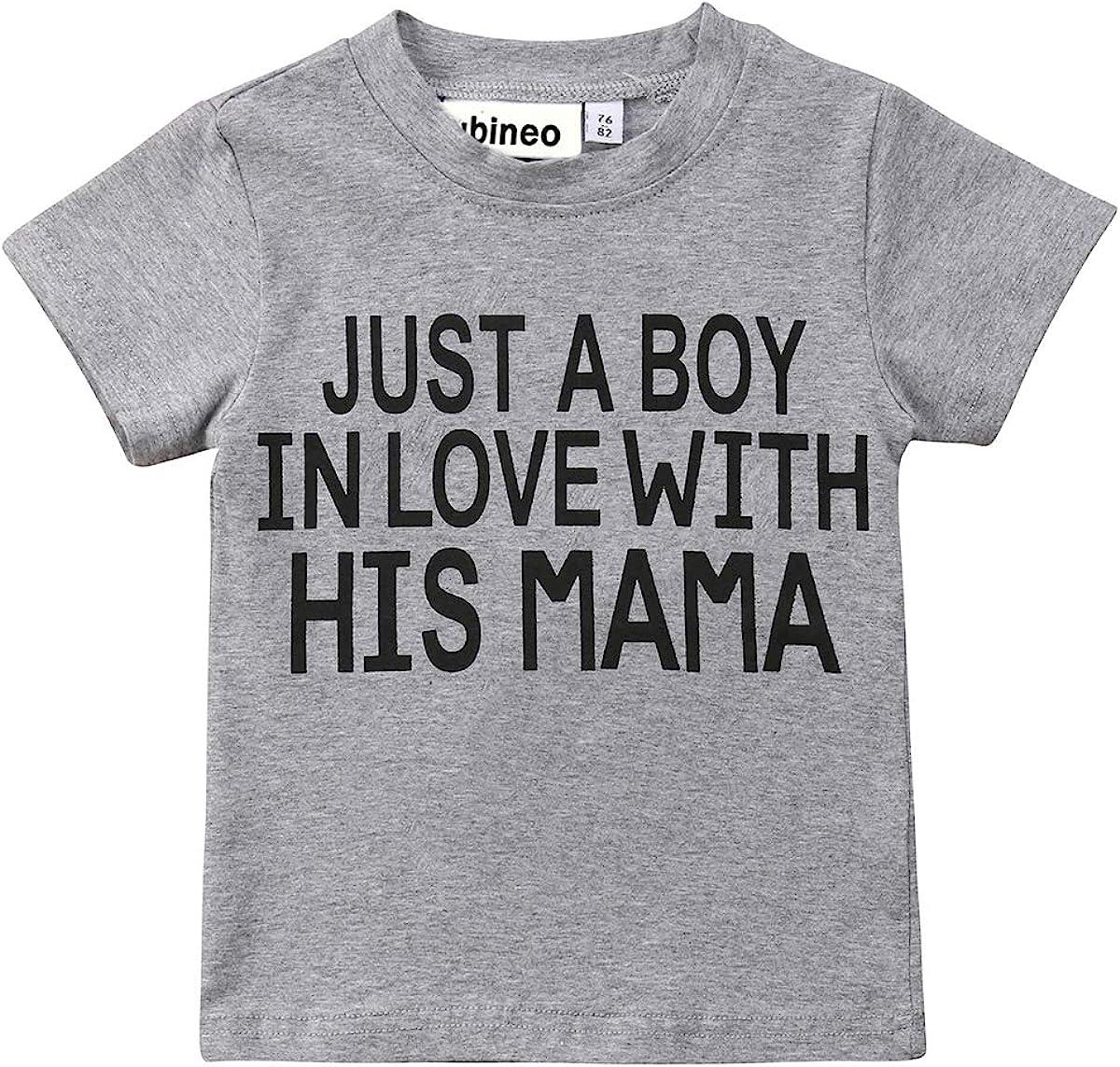 Mubineo Toddler Baby Girl Boy Funny Short Sleeve Cotton T Shirts Tops Tee Clothe