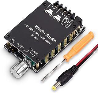 200W Bluetooth 5.0 Power Amplifier 2 Channel Hi-Fi Stereo Audio Amp Home Desktop Car Speaker DC8-24V