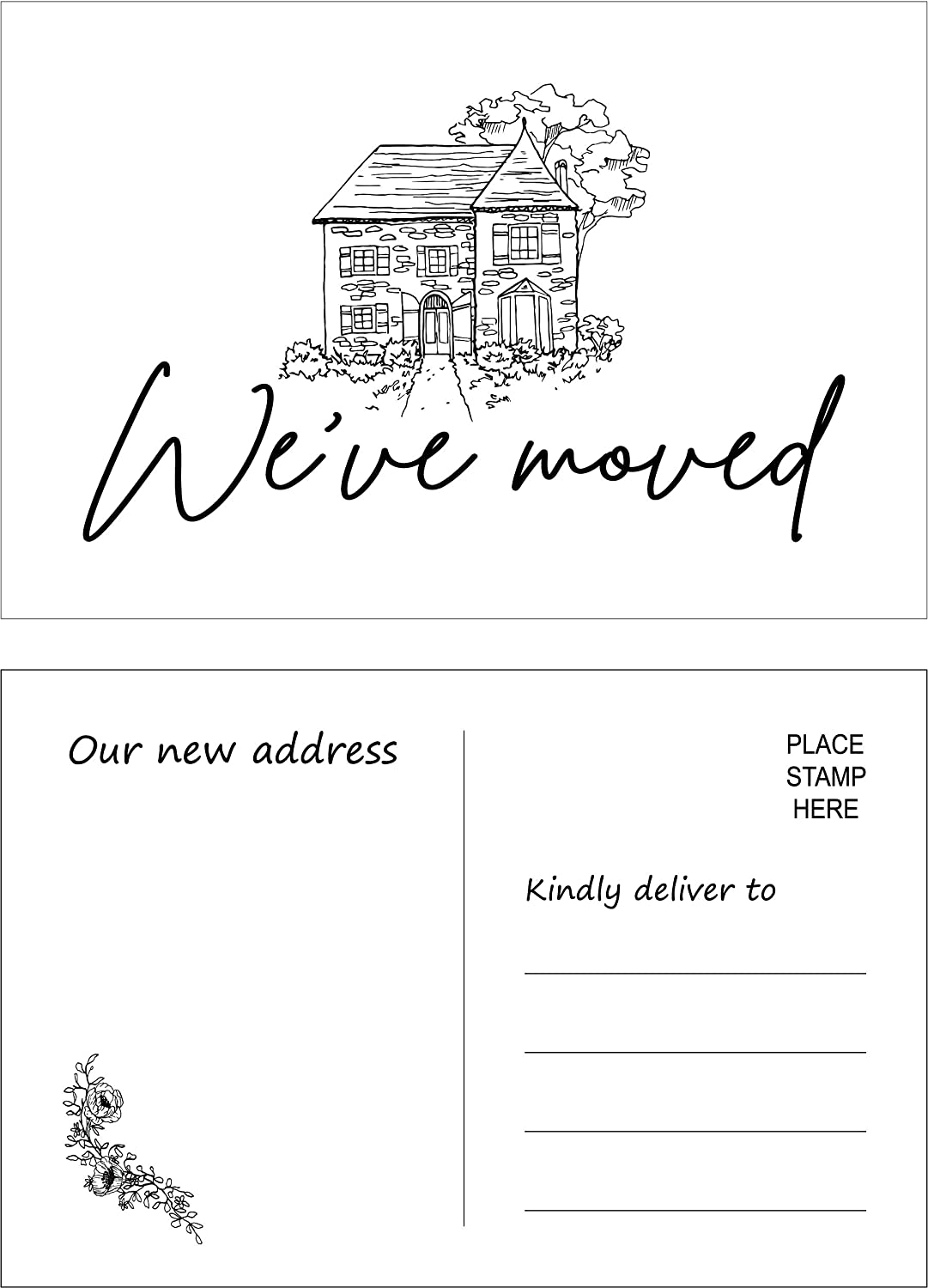 RXBC2011 Over item handling We've moved postcards moving Pack Now on sale announcement of cards