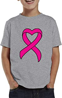 SpiritForged Apparel Heart Shaped Pink Ribbon Breast Cancer Awareness Toddler T-Shirt