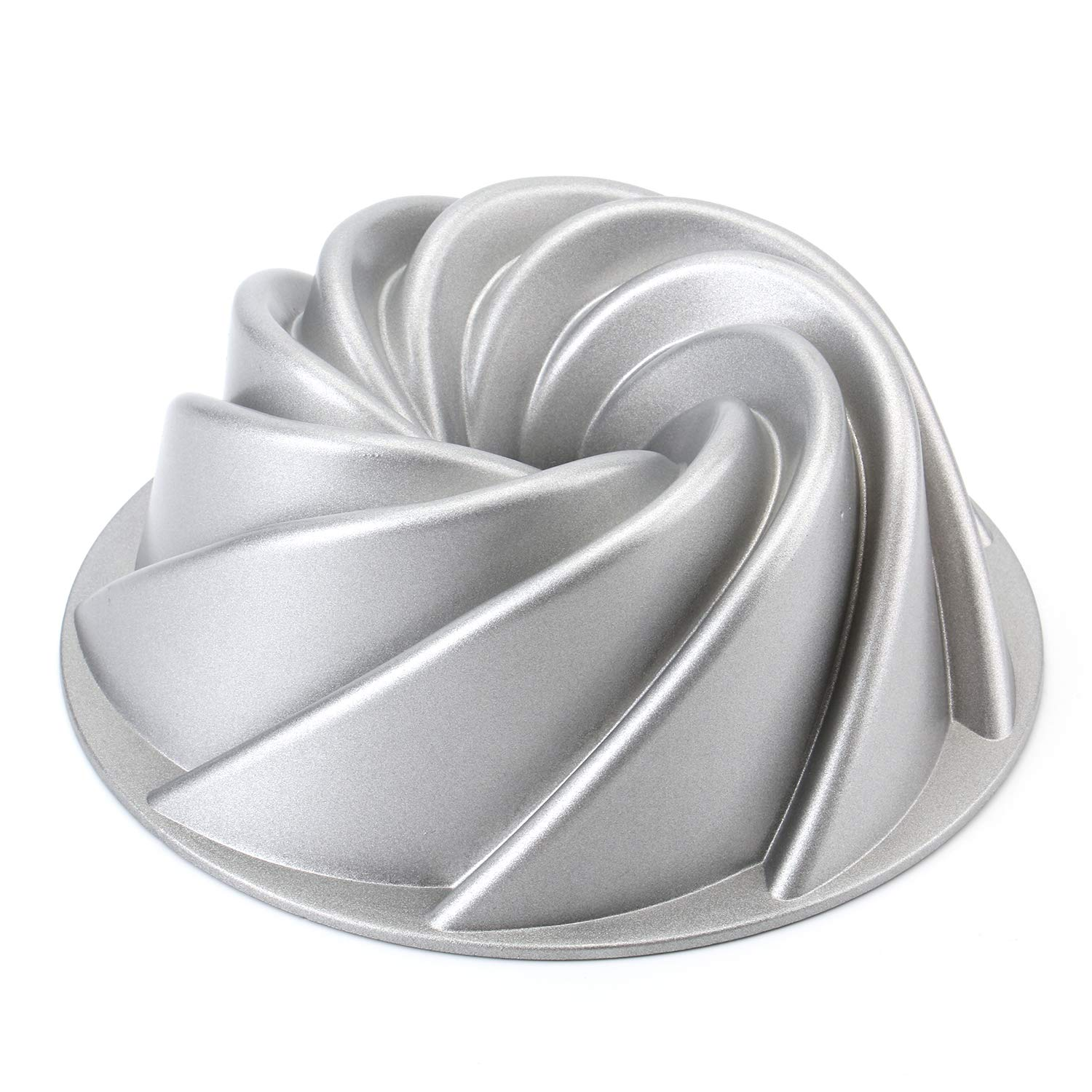 Tosnail 9-Inch Non-Stick Fluted Cake Pan Round Cake Pan Specialty and Novelty Cake Pan