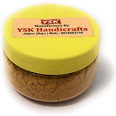 YSKHANDICRAFTS Sandalwood Dust Box (25 g, Beige)