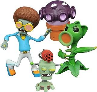 Diamond Select Toys Plants vs. Zombies: Peashooter vs. Browncoat Disco Zombie Select Action Figure (2 Pack)