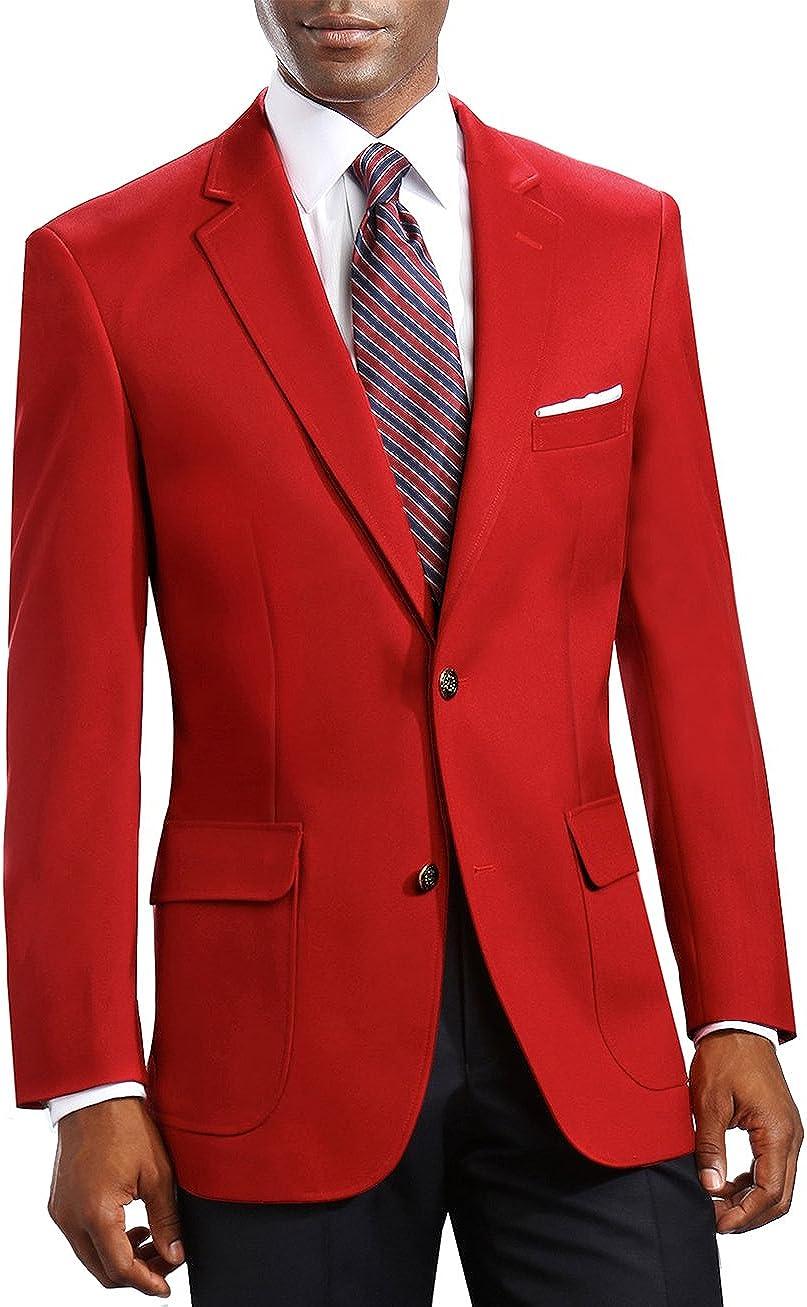 Neil Allyn Elegant 2 Button Notch Blazer, Sport Coat Red