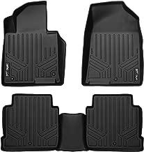 SMARTLINER Custom Fit Floor Mats 2 Row Liner Set Black for 2015-2019 Hyundai Sonata / 2016-2019 Kia Optima