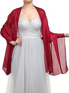 Gardenwed Damen Glitzerschal Scarves Stola 70  180CM Sommer Tuch Stolen für Kleider in 22 Farben