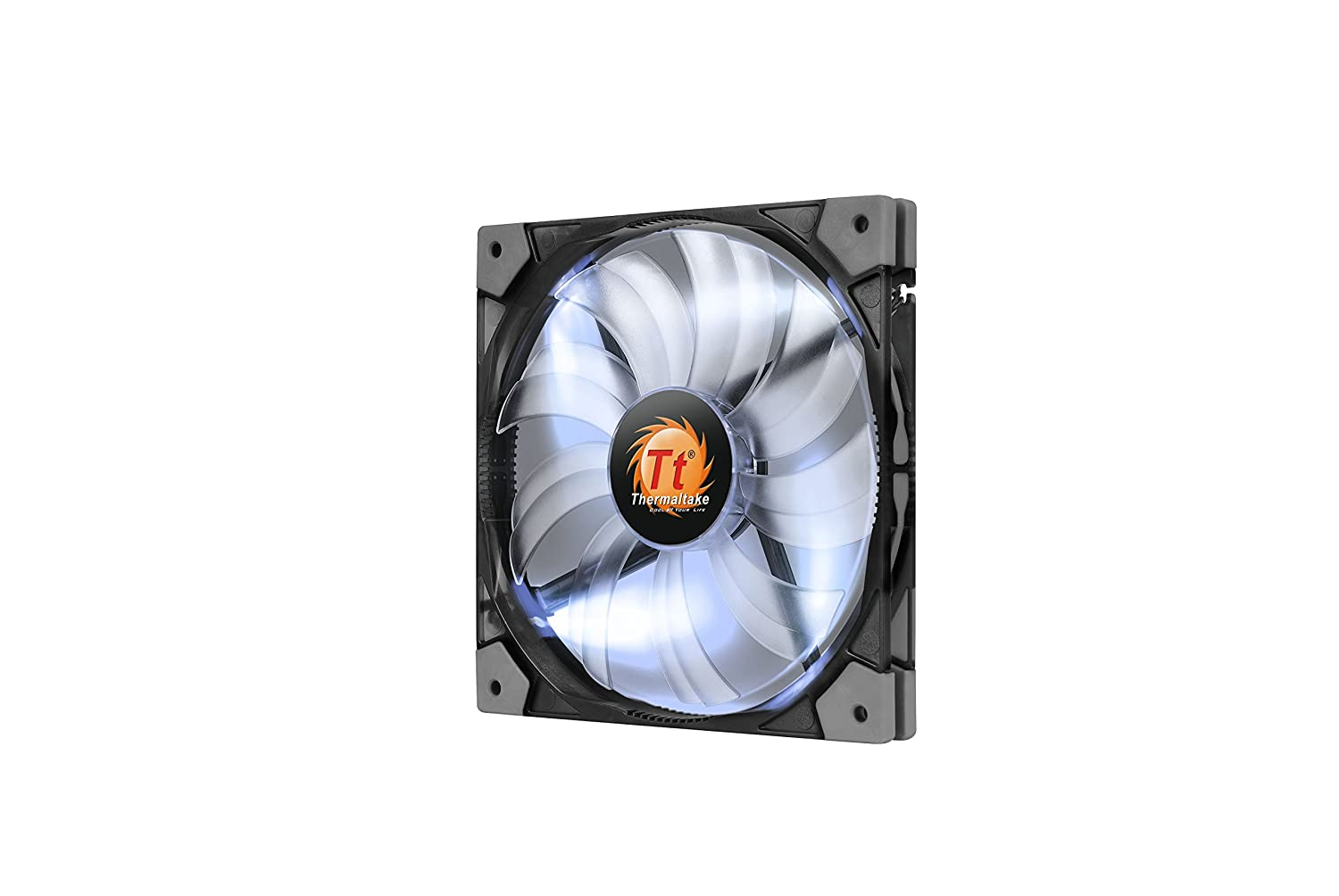 Thermaltake Luna 12 120mm Slim Series Led 15mm Width Quiet High Airflow Case Cooling Fan Cl F035 Pl12bu A Blue Amazon In Computers Accessories