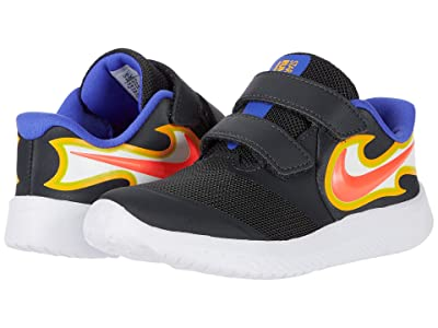 Nike Kids Star Runner 2 Fire (Infant/Toddler) (Dark Smoke Grey/Laser Crimson) Kid