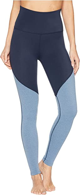 Plush Angled High-Waisted Midi Leggings