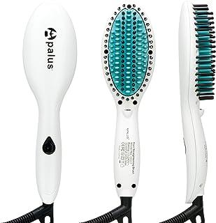 Apalus® Mini Hair Straightening Brush, Ceramic Hair Straightener Brush With Anions Generator For Silky Hair, Anti Scald, D...