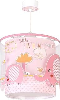Dalber Little Elephant Lámpara Infantil de Techo Elefante, 60 W, Rosa