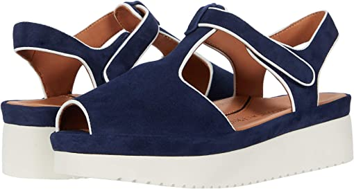 Navy Suede/White
