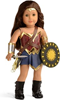 sweet dolly Doll Clothes Wonder Girl Princess Diana Costume for 18 Inch American Girl Dolls (Shield+Sword+Costume)