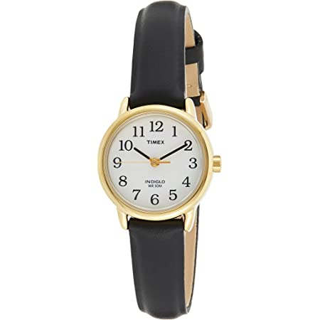 Timex Easy Reader 25 mm Women's Brown Leather Strap Indiglo Quartz Watch T20433