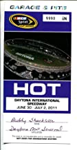 Daytona Int'l Speedway NASCAR 400 HOT Garage & Pit Pass 7/2011-VG