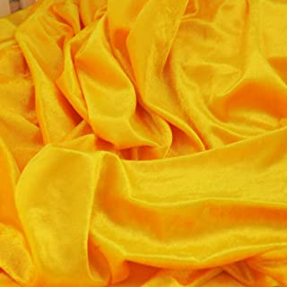 Stretch Velvet Fabric for Costumes and Crafting by The Yard (Yellow,1 Yard)