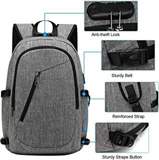 Anti Theft Laptop Knapsack USB Charging Ipad Travel Daypack Lightweight Bag
