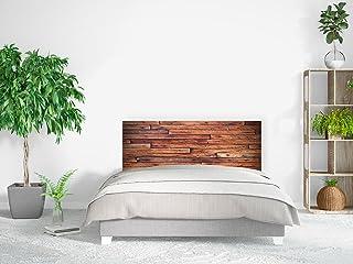Cabecero Cama PVC Impresión Digital | Imitación Madera Marrón Horizontal 100 x 60 cm | Cabecero Original y Económico