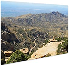 Ashley Giclee Metal Panel Print, View Towards Tucson of Winding Road from Windy Point On Mount Lemmon in Tucson, 8x10, AG6550048